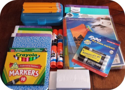 back to school supplies 500x359 Mom Tips for Back to School!