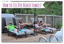 How to Tie Dye Beach Towels