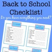 Before the start of the school year, I like to use this back to school checklist to assess what the kids need in the way of clothes and supplies to get the year started off right!