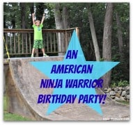 Post image for American Ninja Warrior Birthday Party