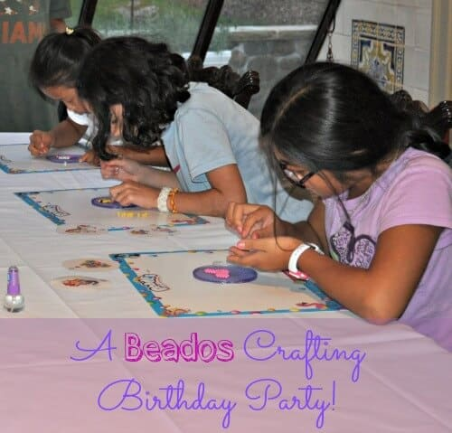 I love to plan birthday parties around cool craft kits that my kids have seen on TV or that their friends are talking about school. My daughter Lili has been talking about Beados for a long time, so I thought it would be fun to create a craft birthday party, using Beados as our theme!