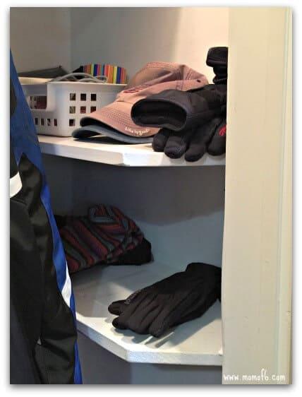 Coat Closet-side shelf