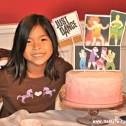 Does your child love the game Just Dance? Here is a post packed with ideas on how to throw a fun Just Dance Half-Sleepver birthday party- complete with a Just Dance birthday party cake and party favor ideas! This is a great birthday party idea for a 7 year old girl!