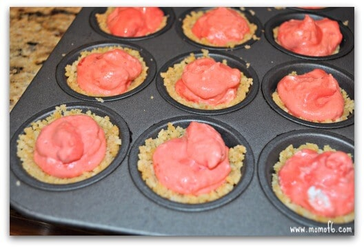 Using the back of the tablespoon, I pressed the crumb mixture into a ...