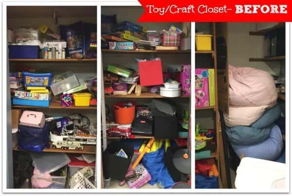 Toy Craft Closet Before