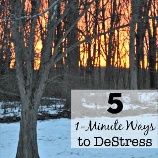 5 1-Minute Ways to DeStress