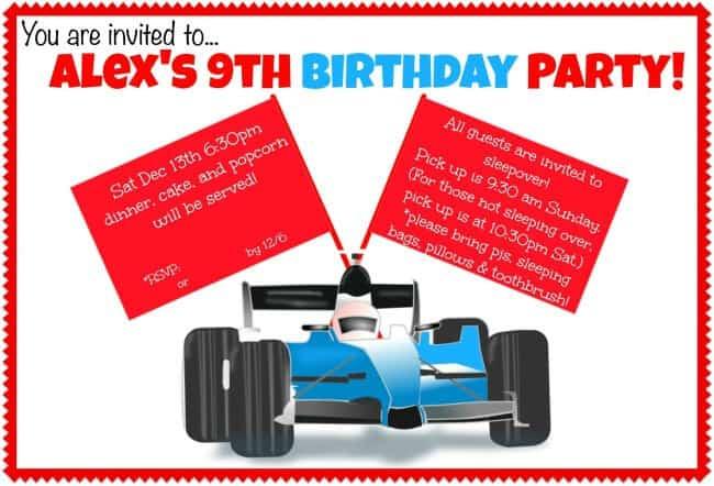 Alex's Birthday Party Invite (modified)