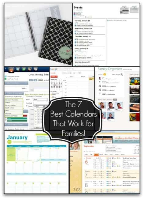 The 7 Best Calendars that Work for Families from Mom of 6