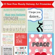 10 Best Free Family Subway Art Printables 180 px