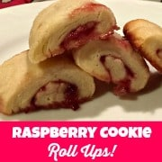 Baking with the kids is a great thing to do- especially with something that is sweet, and sticky- like these raspberry cookie roll ups!