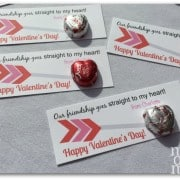 Valentine's for School- arrow cards