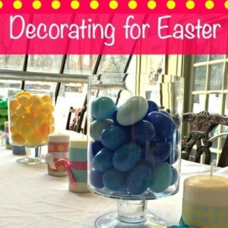 Decorating for Easter With Plastic Easter Eggs!