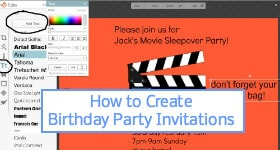 How to Create Birthday Party Invitations Sidebar Image