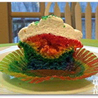 Rainbow Cupcakes- for a St. Patty's Day Birthday!