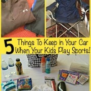 5 Things To Keep in Your Car When Your Kids Play Sports!