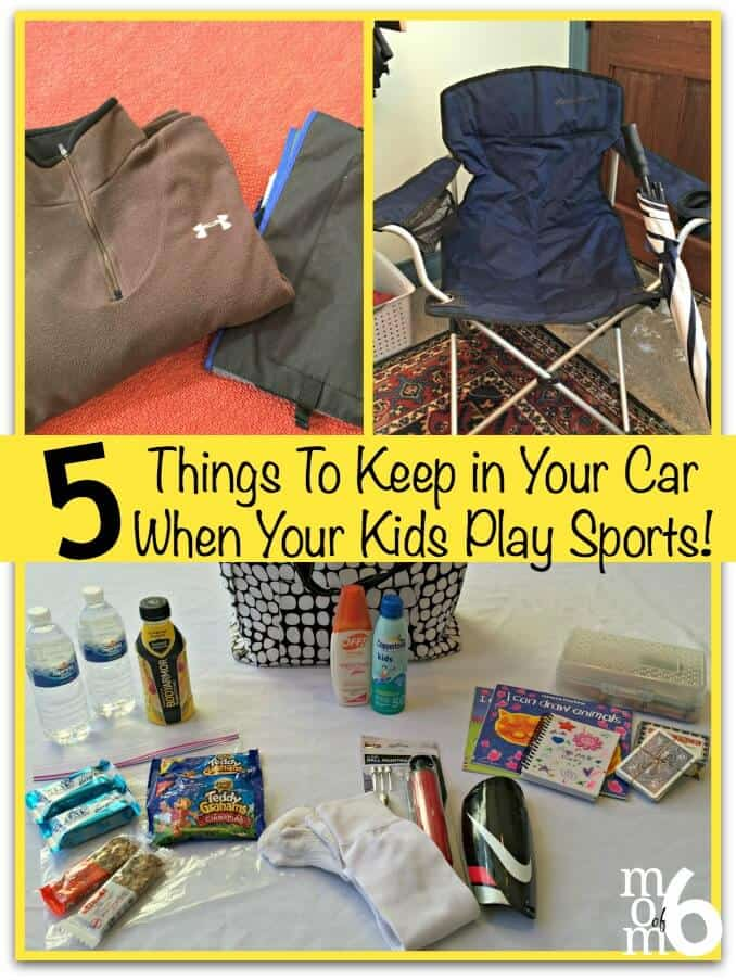 5 Things To Keep in Your Car When Your Kids Play Sports! - MomOf6