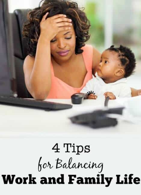 There's way too much to do to squish into a 24-hour day. Especially when trying run an at home business! Here are 4 tips for balancing work and family life!