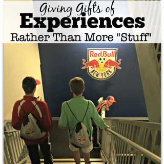 "Giving Gifts of Experiences Rather Than More ""Stuff"""