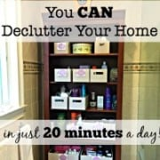 The KonMari Method of decluttering is out of the realm of possibility for most busy Moms with busy lives! I truly believe you can declutter your home in just 20 minutes per day- one small manageable task at a time. Here's how!