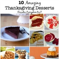 Pumpkin pie is a must on Thanksgiving, of course- but here are 10 more amazing choices for Thanksgiving desserts! I dare you to choose just one!