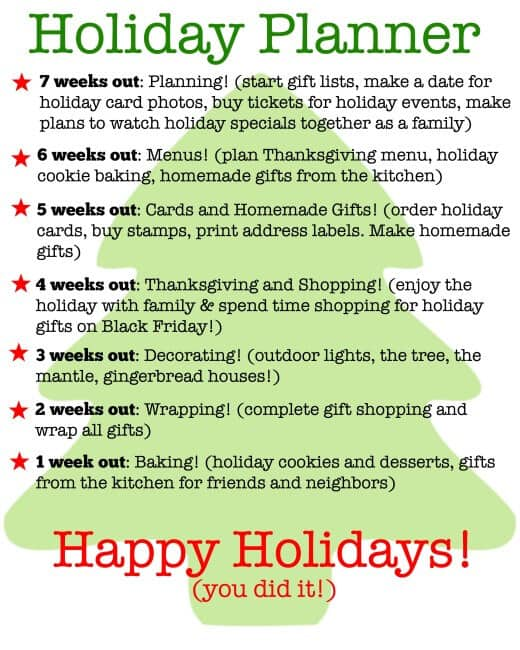 """I think that the key to having a stress-free holiday is to spend some time planning ahead. A few years ago I made the decision that I wanted to spend my holidays intentionally– doing the things that are important to my family and eliminating the holiday """"to-do's"""" that were not adding to any personal joy. Using these holiday planning printables helps me to decide what is important to my family and how I can get it all done and still enjoy the holiday season!"""