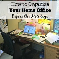 How to Organize Your Home Office Before the Holidays