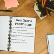 Do you feel that New Year's resolutions are more appropriate for adults than for kids? Then try our family tradition of writing New Year's predictions instead!