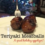 These teriyaki meatballs are super-easy to prepare and are made using store-bought frozen meatballs! A perfect appetizer to take to holiday parties!