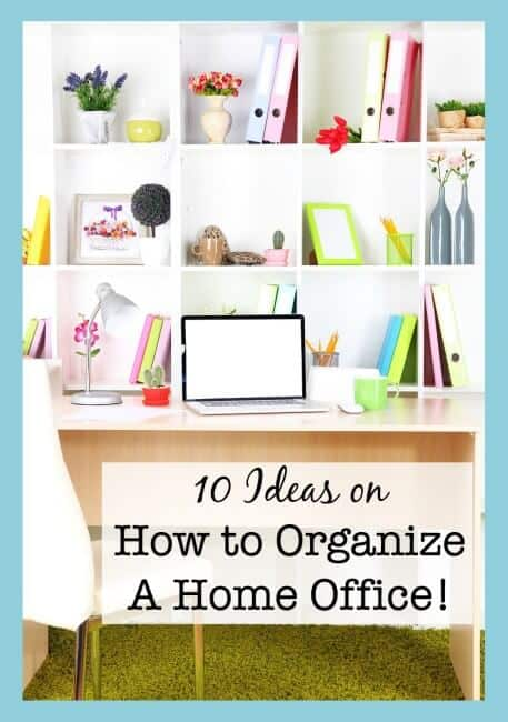 Clean desk, clear mind! Today I hope to inspire you with some ideas on how to organize a home office- and I'll share with you options for improving your space as a DIY Project or a way to just click and buy what you need!