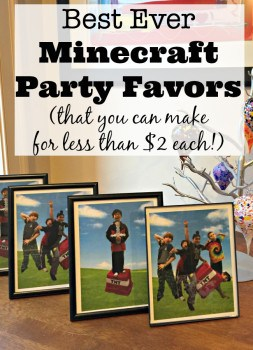 Best Ever Minecraft Party favors