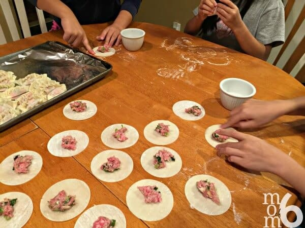 I originally learned how to make these homemade Chinese dumplings when I took a workshop at a Lunar New Year Party we attended as a family. The ladies that taught the class were amazing- and were kind enough to share their recipe and teach me their technique! Trust me- these will be the best dumplings you've ever tasted!