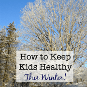 """Our holiday break provided some time off from our normal routines, which was awesome, but my kids still seem to be following this """"lazier lifestyle""""... and if I don't things around quickly it could lead to a drop in our ability to fight off the germs and viruses that are lurking! So here's what I am doing now for my family to help keep kids healthy this winter!"""