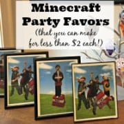 I love when party favors are fun, fit the theme of the party, and are something the guests will want to keep! These DIY Minecraft Party favors are awesome and cost less than $2 to make!