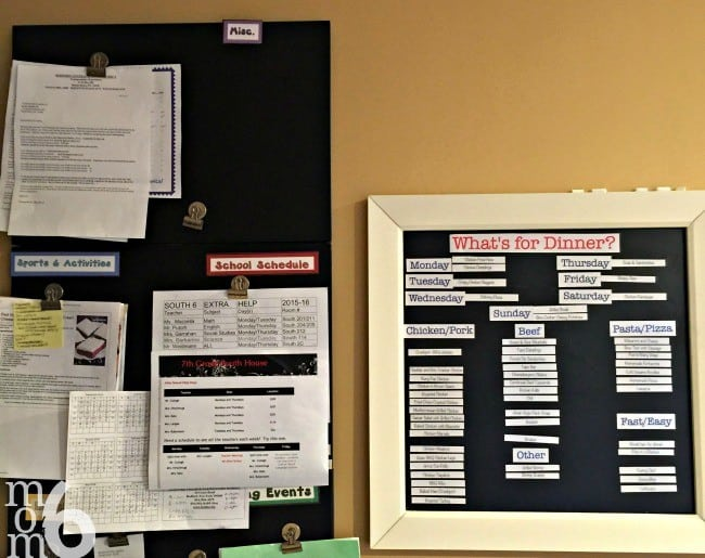 """To answer the question, """"What's for dinner?"""", I have been using a magnetic menu planning board for years now. I love how it makes the actual menu planning process so simple- all I have to do to pick and choose family dinners from my previously prepared list, and just move them into their daily spot."""