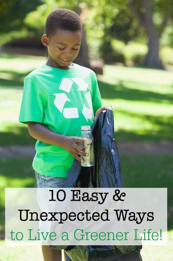 Is your family making changes to be kinder to the environment? How about considering these 10 easy and unexpected ways to live a greener life! #ad #TossTheTube