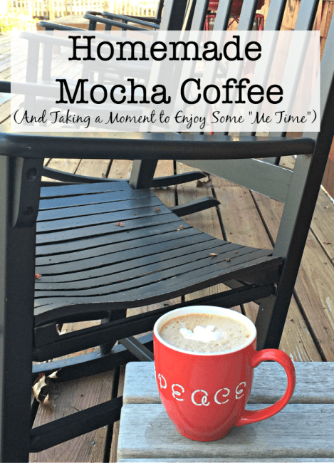 """After a busy morning, I love to find a few minutes to re-charge with a cup of my homemade mocha coffee! I take a deep breath, sip my yummy beverage, and look over the list of things that I would like to accomplish during the day. This is """"Me Time"""". Time to relax, refocus, and get reinvigorated. #Folgers #Recipe #sponsored"""