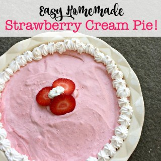 Strawberry Cream Pie! {An Easy Homemade After School Snack!}