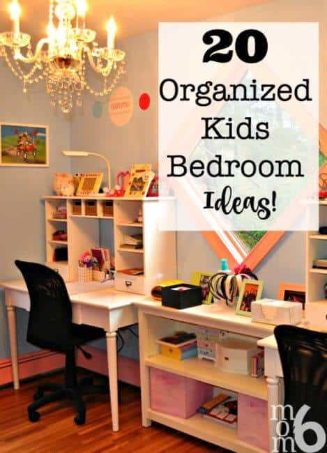How many of you are frustrated with your ability to organize your kids' bedrooms? I researched far and wide on the internet to pull together these 20 Amazing Organized Kids Bedroom Ideas! Meant to inspire all of us!