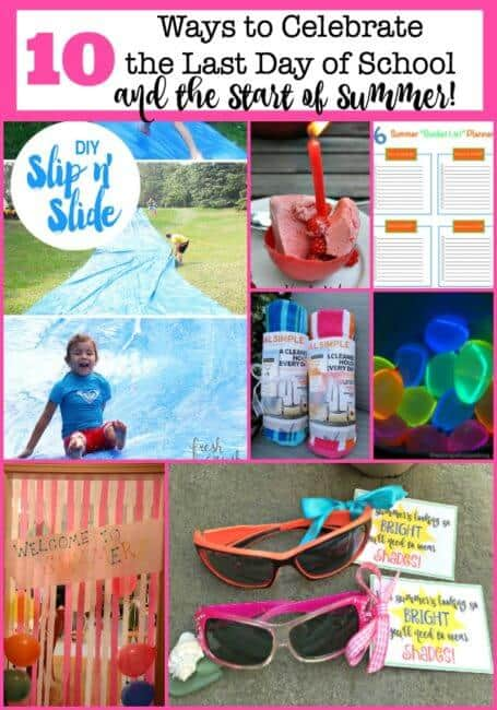 I feel as if summer is nearly upon us! And this year I want to don the party hats and roll out the welcome mat for summer! Here are awesome some ideas for a new last day of school or start of summer tradition!