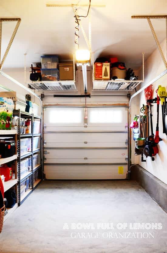 12 organized garage ideas momof6 for One car garage storage