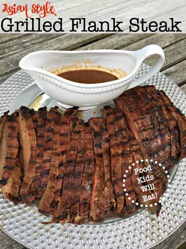 Asian Style Grilled Flank Steak, shared by Mom of 6 at The Chicken Chick's Clever Chicks Blog Hop