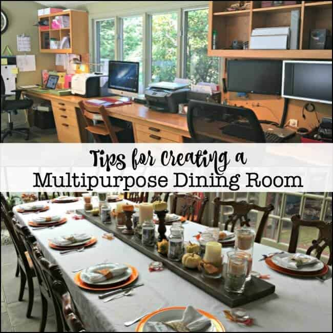 We need to make use of every square foot of space in our home- so we have created several multipurpose rooms that do just that. Today I am giving readers a tour of our multipurpose dining room and sharing some tips on how to create your own multipurpose room (post includes a free printable checklist!)