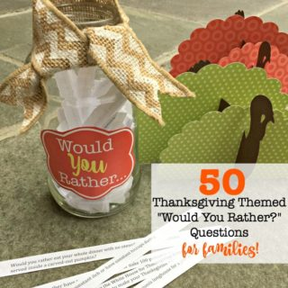"""""""Would You Rather?"""" {A Thanksgiving edition that's perfect for families!}"""