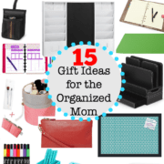 Whether a Mom already considers herself to be fairly organized, or is she is someone is who is still hoping to (someday) get there- she will appreciate these thoughtful gifts that are perfect for the organized Mom!