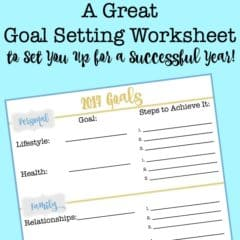 Using a goal setting worksheet helps you to move from an idea just being a wish or a dream- to being a goal with a plan to achieve it! This post shows you exactly how to set goals, and includes a free printable goal setting worksheet pdf!