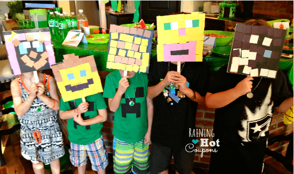 minecraft party craft ideas great ideas for a minecraft birthday momof6 4962